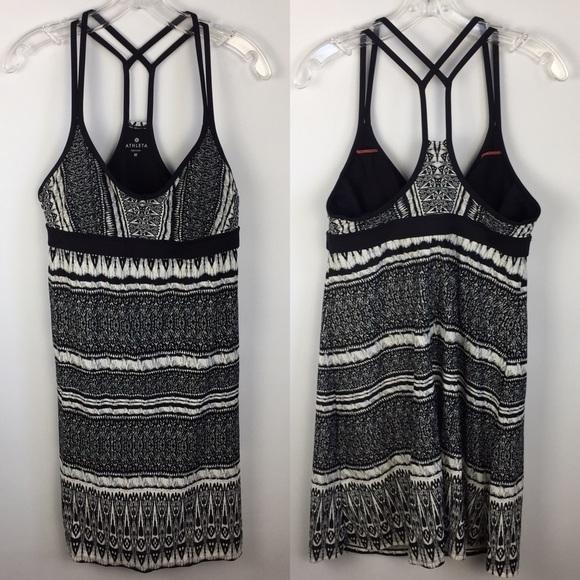 Athleta Dresses & Skirts - Athleta Coastline Printed Swim Athletic Dress Sz M